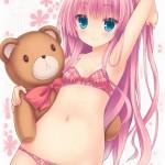 【二次・ZIP】可愛らしくてエッチなチェック柄の下着身に付けてる美少女画像