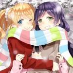 【二次・ZIP】まだまだ寒い日が続くのでマフラー美少女の虹画像