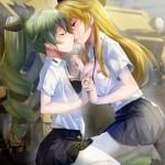 【二次・ZIP】イチャイチャラブラブしてる虹美少女の百合レズ画像