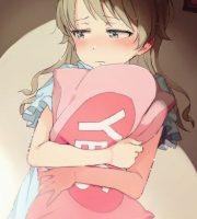 【二次・ZIP】枕をギュッと抱いてる可愛い女の子の虹画像